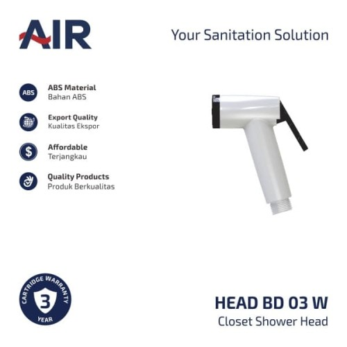 Foto Produk AIR Kepala Shower Kloset / Closet Shower BD 03 W Head dari AER Sanitary Indonesia