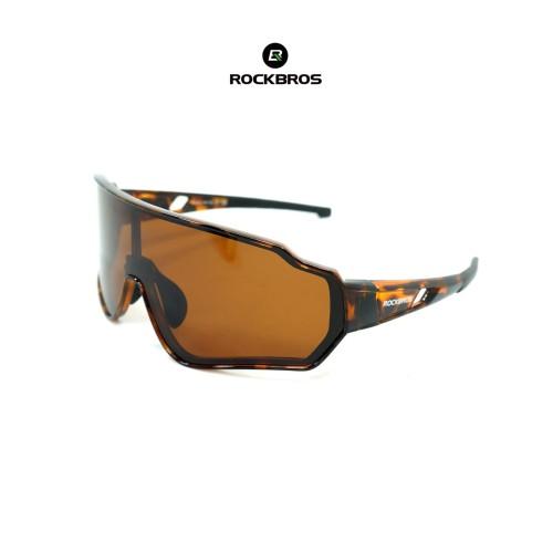 Foto Produk ROCKBROS 10163 Polarized Sunglasses - kacamata Sepeda Lari - BROWN dari Rockbros Indonesia