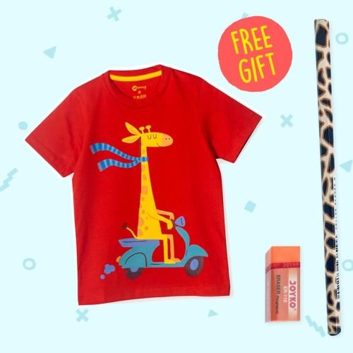 Foto Produk Moosca Kidswear Girraffe T-shirt Kaos Anak - M dari Moosca Kidswear