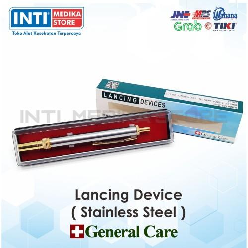 Foto Produk GENERAL CARE - Lancing Device Stainless Steel   Pena Bekam dari INTI MEDIKA STORE