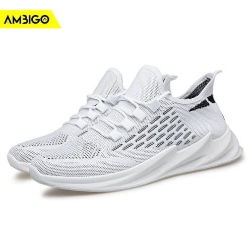 Foto Produk Sepatu Sneakers Olahraga Pria Ambigo LENO JKT30 Running Shoes - Kuning, 40 dari Jagonya Case