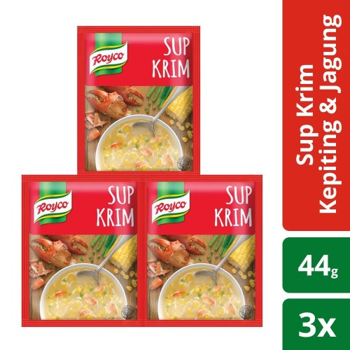 Foto Produk Royco Sup Krim Kepiting & Jagung 44G isi 3 dari Unilever F&B Official