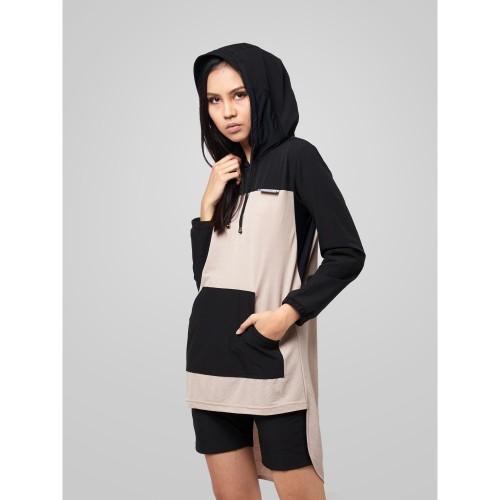 Foto Produk Sweater Jacket Wanita resilen Utilitarian Beige Hoodie - L dari resilen