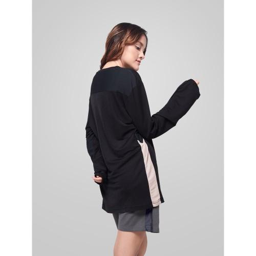 Foto Produk Kaus Wanita Panjang resilen Essentials Long Sleeves T-Shirt Black - S dari resilen