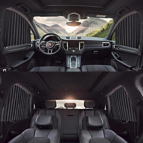 Foto Produk Car Magnet Window Sun Shades 4 pcs | Tirai Gorden Jendela Kaca Mobil - Hitam dari Gentleman Car