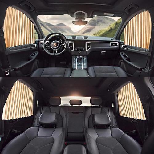 Foto Produk Car Magnet Window Sun Shades 4 pcs   Tirai Gorden Jendela Kaca Mobil - Gold dari Gentleman Car