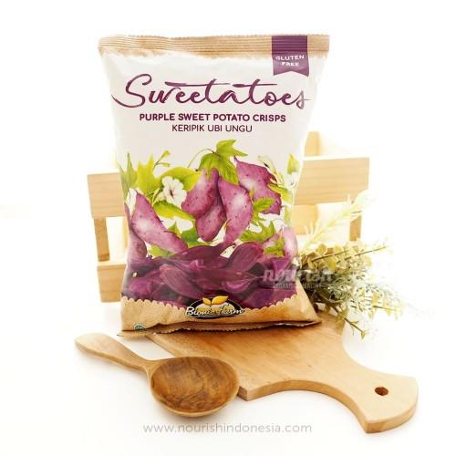 Foto Produk BionicFarm, Purple Sweet Potato Crisps 50gr dari Nourish Indonesia