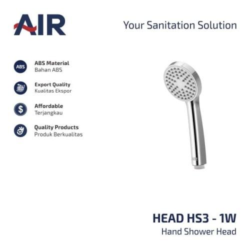 Foto Produk AIR Kepala Hand Shower/ Hand Shower HS3 - 1W Head dari AER Sanitary Indonesia