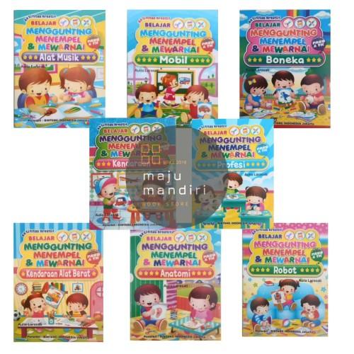 Foto Produk Buku Aktifitas Gunting Tempel Mewarnai - Buku Aktifitas Anak dari Maju Mandiri 88