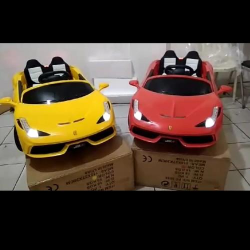 Foto Produk Mobil Mainan Aki Junior Ferrari 458 Spider (FC-8858) dari Mainan AnakAnak