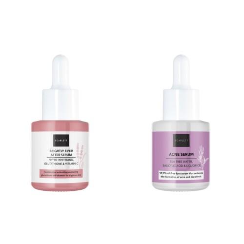 Foto Produk SCARLETT WHITENING BRIGHTLY EVER AFTER SERUM & ACNE SERUM SCARLETT - serum acne dari CHICBEAUTE