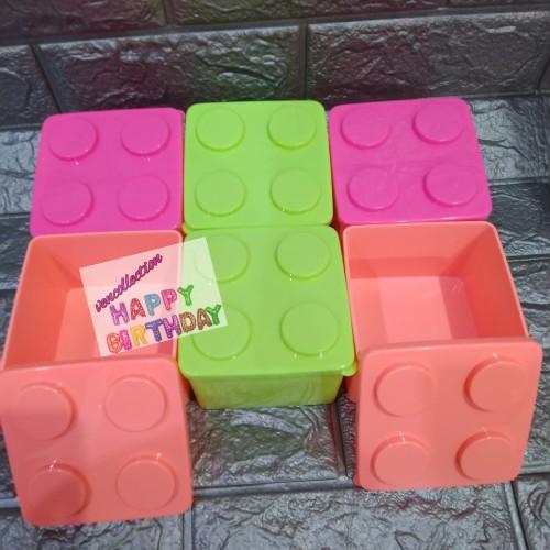 Foto Produk kotak makan lego anak/kotak makan souvenir/lunch box murah dari VenCollection