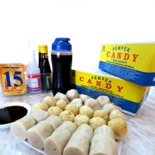 Foto Produk PROMO!! Pempek Candy Asli Khas Palembang Cemilan Mpek mpek Paket Kecil dari garasi corner palembang