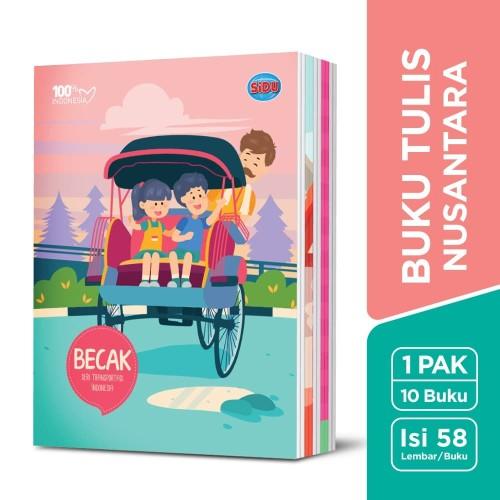 Foto Produk SiDU Buku Tulis Nusantara 58 Lembar - 10 Buku dari SiDU Official Store