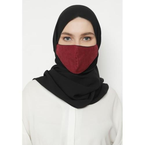 Foto Produk Heaven Sent - Masker Hijab Non Medis Chayra Maroon dari Heaven Sent Official