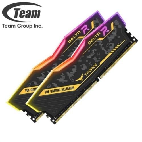 Foto Produk TEAM TF9D416G3200HC18HDC01 DELTA TUF RGB 16GB (2X8GB) DDR4 PC 3200 dari dunia storage