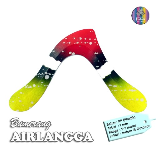 Foto Produk Bumerang Boomerang AIRLANGGA Mainan Anak Edukati Tradisional Sport Fun dari Bilik Art Media