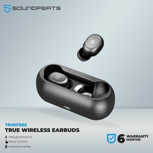 Foto Produk SoundPEATS TrueFree True Wireless Earbuds Bluetooth 5.0 in-Ear Stereo dari SOUNDPEATS OFFICIAL