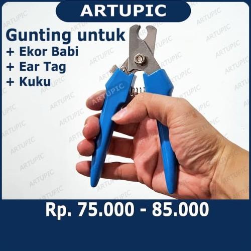 Foto Produk Gunting Ear Tag Gunting Ekor Babi Gunting Anting Babi Kambing Sapi DLL dari ArtupicPeralatanPeternak