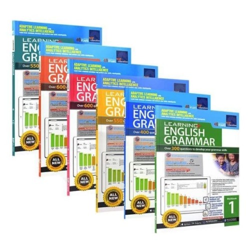 Foto Produk SAP Learning Grammar Workbook 1-6/ Grammar workbook - Level 5 dari shopatbukubuku