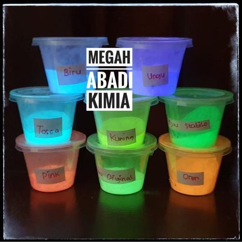 Foto Produk glow in the dark powder / bubuk fosfor / 10 Gram - Hijau dari Megah Abadi Chem
