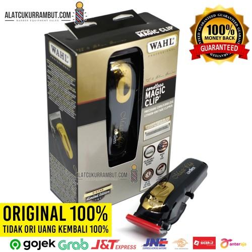 Foto Produk Alat Cukur Rambut WAHL Magic Clip Cordless Black Gold WAHL Original dari alat cukur rambut