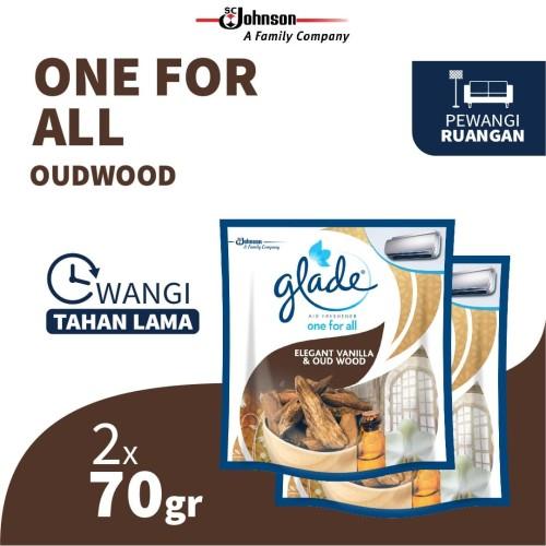 Foto Produk [Dapat 2 pcs] Glade One-for-All Elegant Vanilla & Oud Wood 70gr dari SC Johnson & Son ID