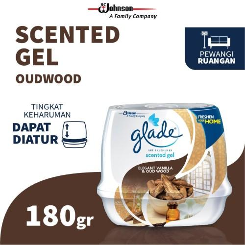 Foto Produk Glade Scented Gel Elegant Vanilla & Oud Wood 180 Gr dari SC Johnson & Son ID