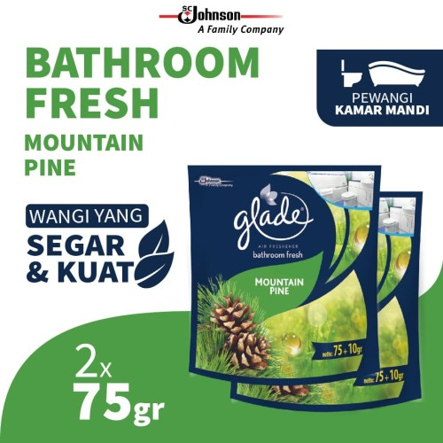 Foto Produk [TWIN PACK] Glade Bathroom Mountain Pine Refill 75g dari SC Johnson & Son ID