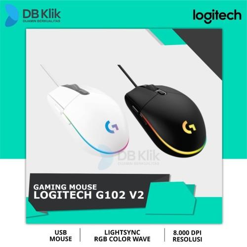 Foto Produk Mouse Gaming Logitech G102 V2 Lightsync RGB - Logitech G 102 V 2 RGB - Hitam dari dbclick