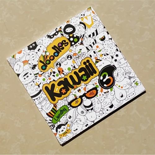 Foto Produk Buku Mewarnai Dewasa Adult Coloring : Doodles Kawaii 3 dari Araro Simple Design