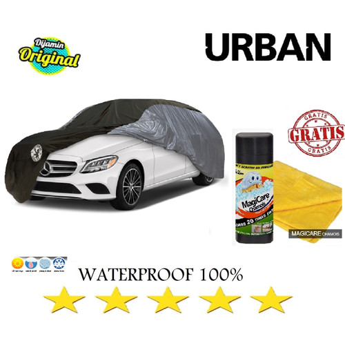 Foto Produk Cover Mobil Urban HONDA CITY VIOS CORONA COROLLA GRATIS CHAMOIS JUMBO - SILVER HITAM dari GrosirOtomotif