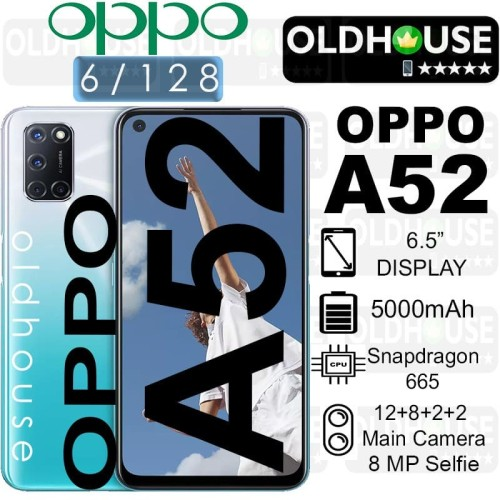 Foto Produk OPPO A52 6/128 RAM 6GB ROM128GB SPESIAL EDITION GARANSI RESMI NEW - Putih dari oldhouse