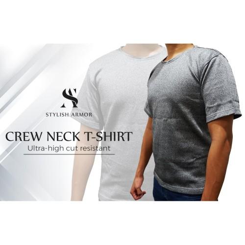 Foto Produk STYLISH ARMOR Crew Neck T-Shirt - Abu-abu, S dari STYLISH ARMOR