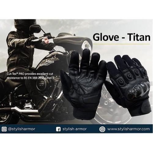 Foto Produk Stylish Armor TITAN Gloves , Sarung Tangan Motor , Pelindung Tusukan dari STYLISH ARMOR
