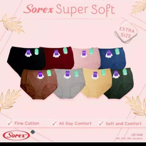 Foto Produk Celana dalam wanita jumbo sorex 1248 super soft ukuran maxi sampai 5XL - Random, Eql dari fjj mart