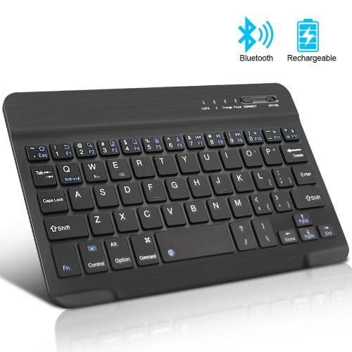 Foto Produk Mini Wireless Bluetooth Keyboard Slim for Windows/Android / iOS / PC - Putih dari gadget mate