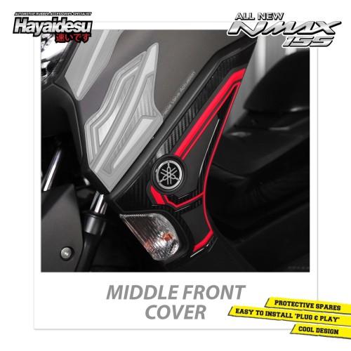 Foto Produk Hayaidesu All New NMAX Middle Front Cover Variasi Body Protector - Merah dari Hayaidesu Indonesia