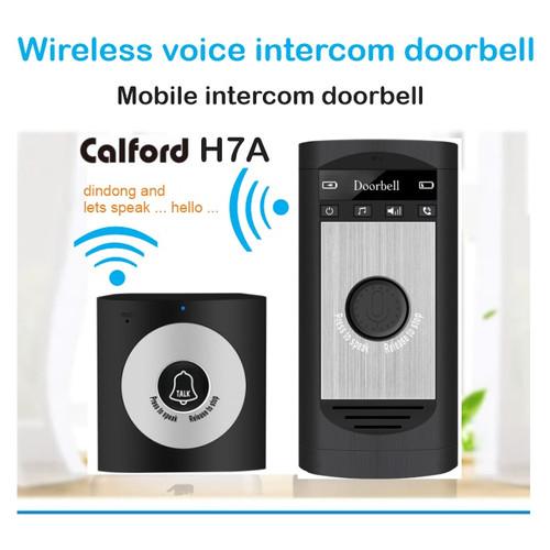 Foto Produk Wireless Intercom Doorbell - 2 Way VoiceTalk Long Range - CALFORD H7A - Hitam dari EtalaseBelanja