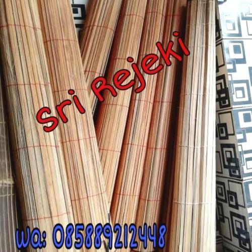 Foto Produk (Murah) Tirai kerai bambu 2x2 M (Tanpa Katrol) Kerai/kere/keray/krey dari Sri Reje ki