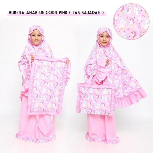 Foto Produk Mukena Anak Unicorn Pink ( Tas Sejadah ) - XS dari Beli Mukena