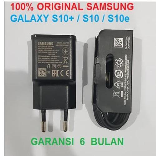 Foto Produk Charger SAMSUNG S10 S10+ S10 Plus S10e Original Fast Charging EP-TA200 - Hitam dari Pasti Original Asli