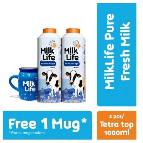 Foto Produk Susu MilkLife Pure Milk / Chocolate 1L Freshmilk   Milk Life Fresh - Pure Milk dari Depo Susu Kelapa Gading