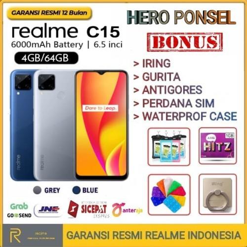 Foto Produk REALME C15 RAM 4/64 GB GARANSI RESMI REALME INDONESIA - Demo Tanpa Dus dari HERO PONSEL.