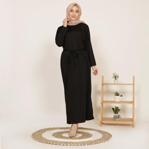 Foto Produk Yoenik Apparel Azura Basic Long Dress Black M15459 R88S6 dari Yoenik Apparel
