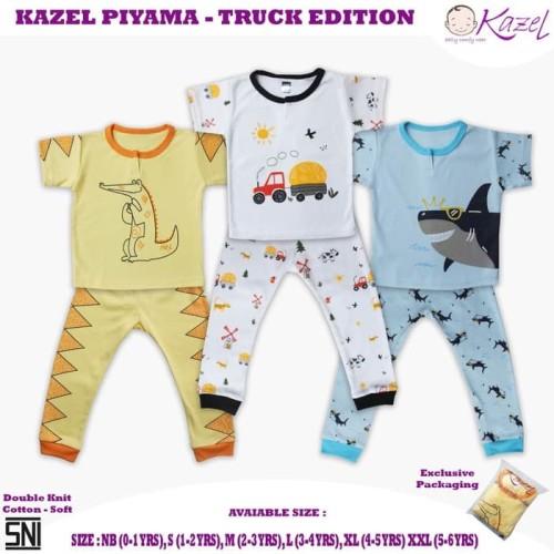 Foto Produk Kazel - Piyama Boy Truck Edition - NEWBORN dari Chubby Baby Shop