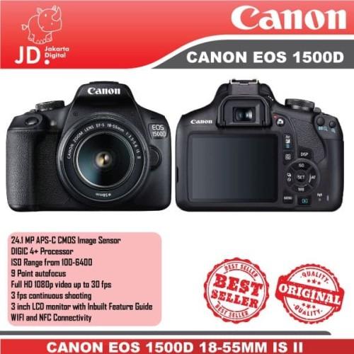 Foto Produk CANON EOS 1500D KIT 18-55MM IS II KAMERA DSLR CANON -1500D KIT dari Jakarta Digital