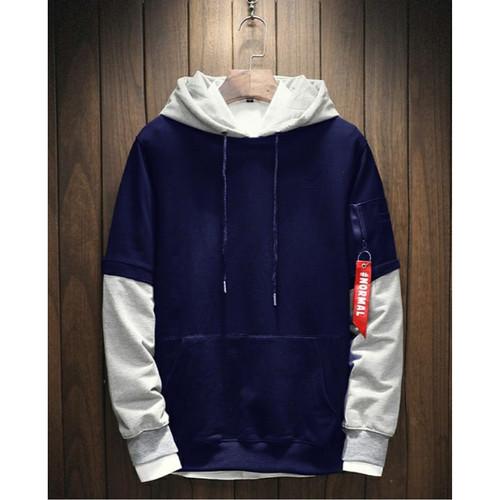 Foto Produk FortKlass BRANDO Sweater Hoodie Unisex Lengan Panjang Pria Wanita - Navy dari FortKlass