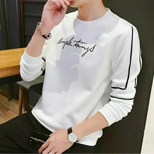 Foto Produk FortKlass SAIN Sweater Hoodie Unisex Lengan Panjang Pria Wanita Kupluk - Putih dari FortKlass