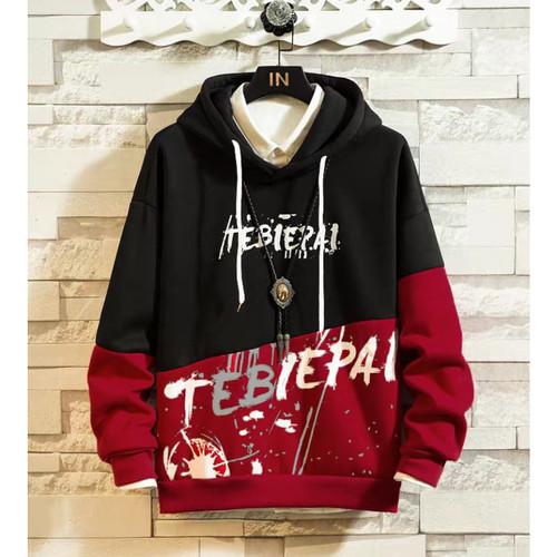 Foto Produk FortKlass TEBI Sweater Hoodie Unisex Lengan Panjang Pria Wanita Kupluk - Hitam dari FortKlass